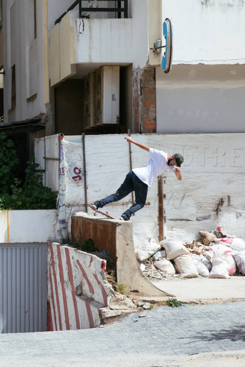 Skating the streets of Tangier