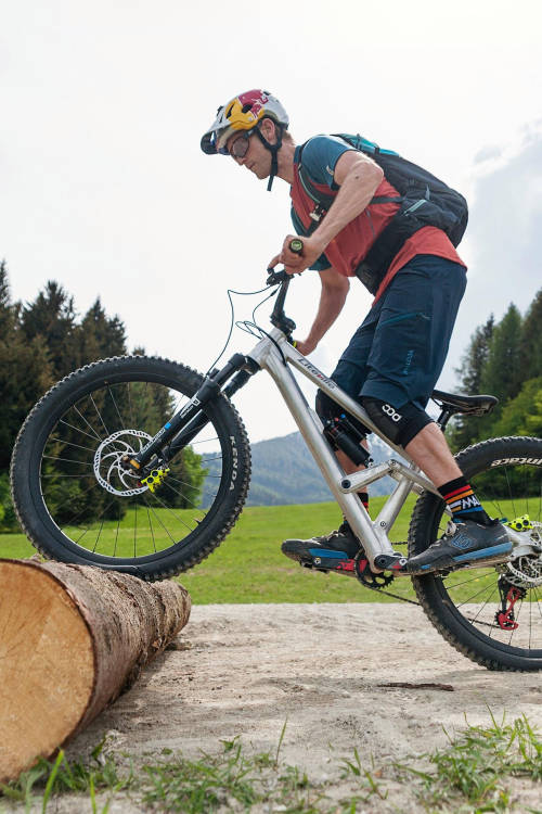 How to ride over logs