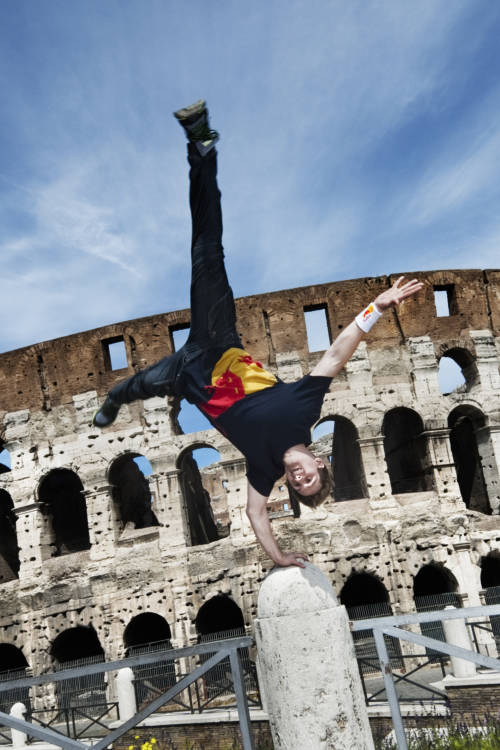 Freerunning in Rome
