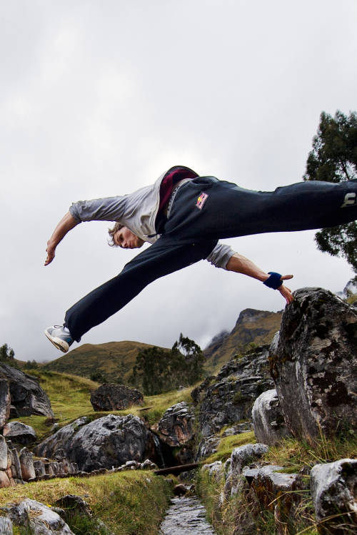 Freerunning in Peru