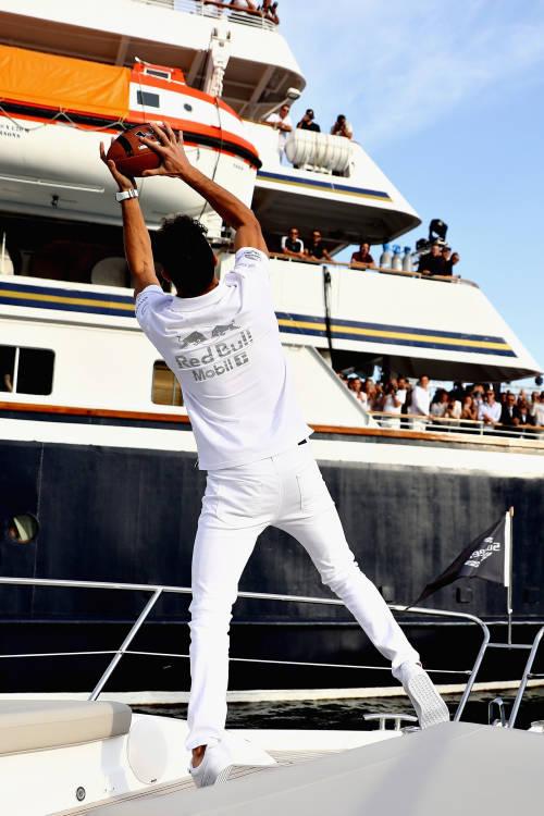 Daniel Ricciardo and Tom Brady with TAG Heuer