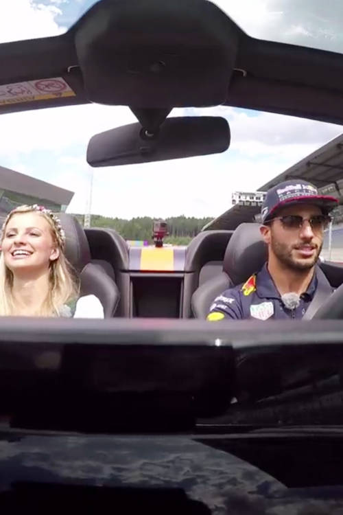 Hot laps with Daniel Ricciardo