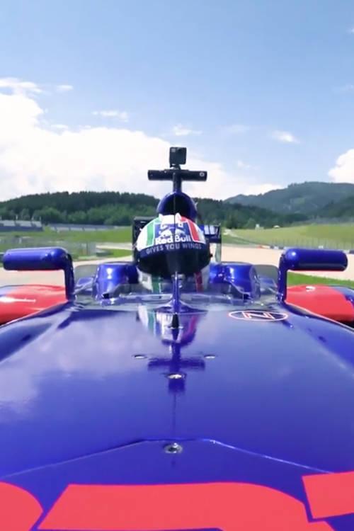 Tony Cairoli test drives F1