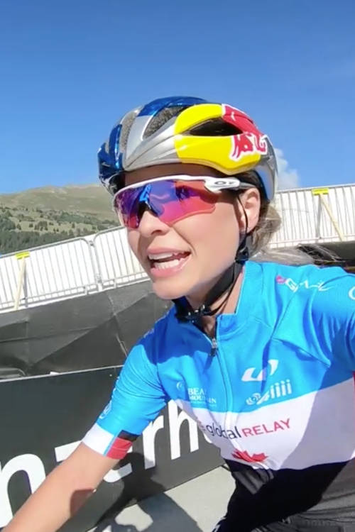 Emily Batty's XCO practice run in Lenzerheide