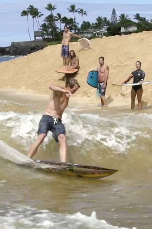Surfing the river