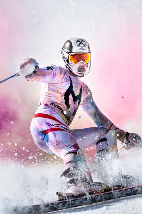 Skiing in Colour