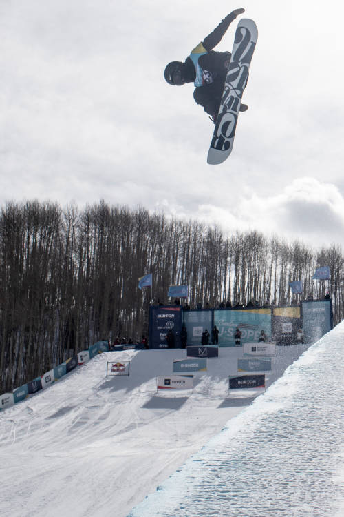 Women's 3rd place halfpipe run