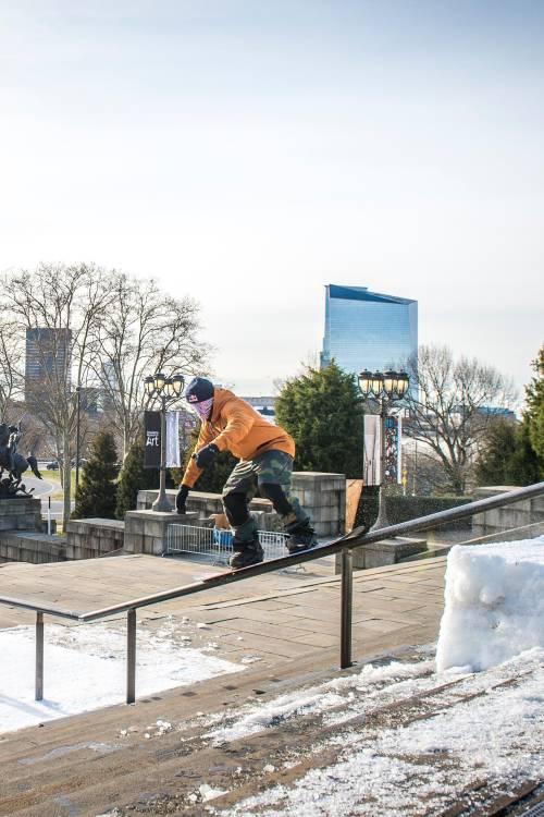 Seb Toots rides an icon in Philadelphia