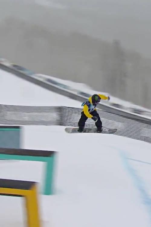 Men's 2nd place slopestyle run