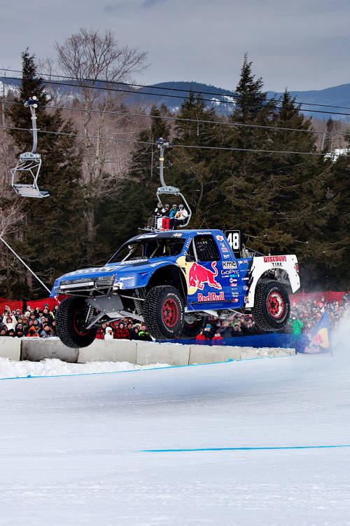 Truck Race on Ski Slopes