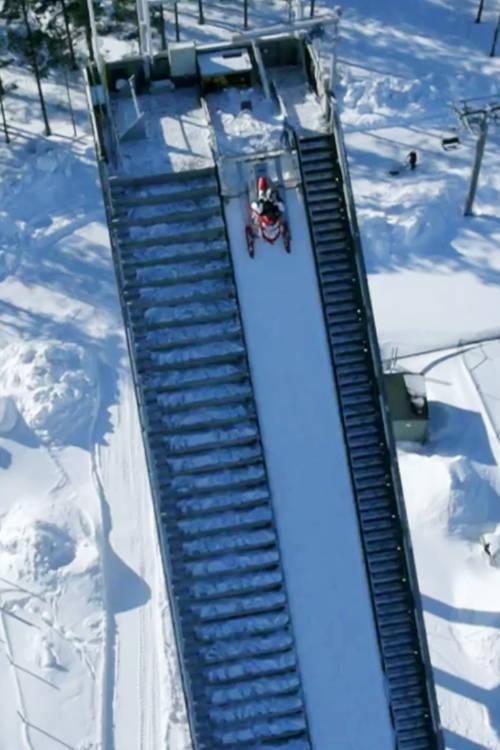 Snowmobile Ski Jump