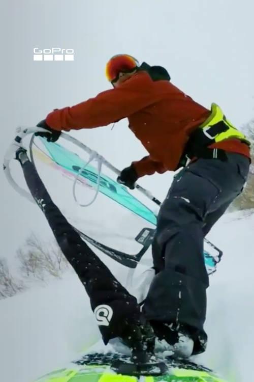 How to Windsurf on Snow