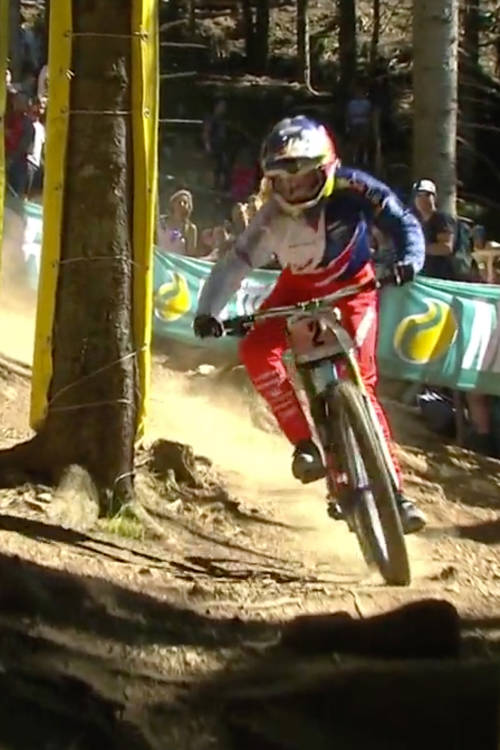 Rachel Atherton's title-winning run