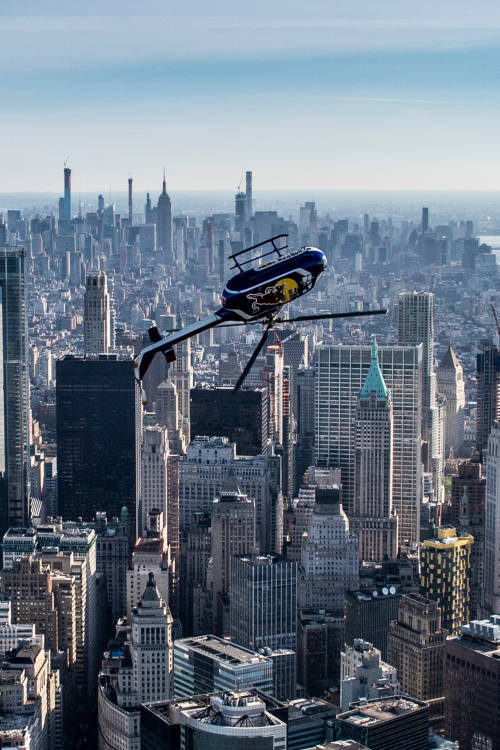 Helicopter tricks over NYC