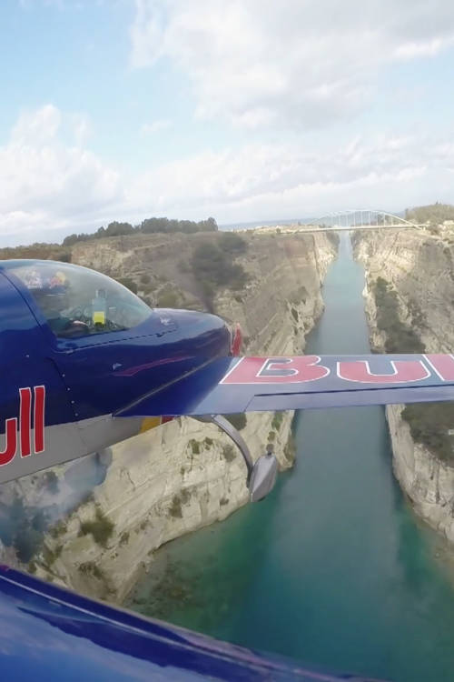 Flying the Corinth Canal