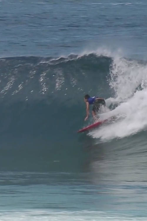 Barron Mamiya's second best wave of round 5