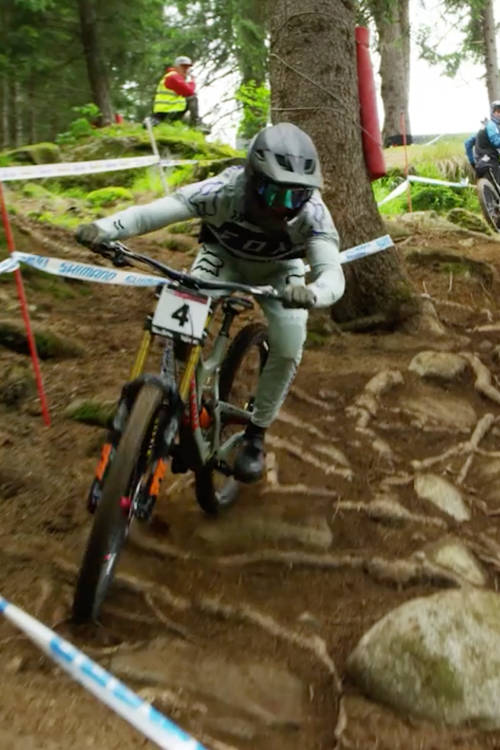Val di Sole DH practice run