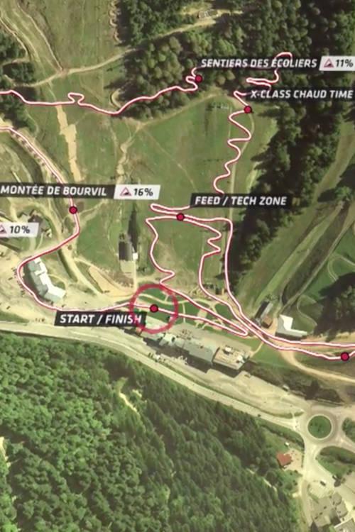 XCO track explanation, La Bresse
