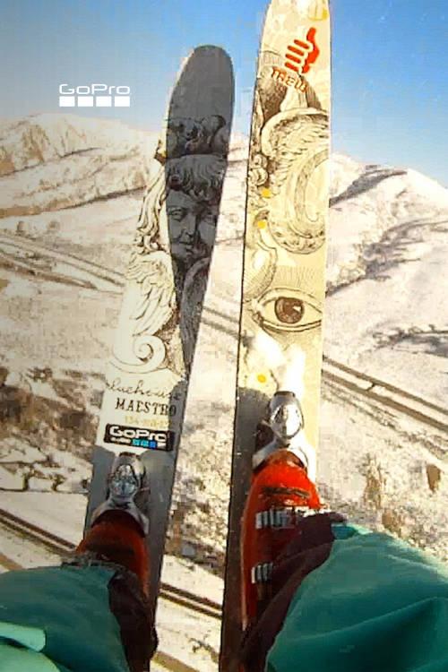 Ski BASE Jump Front Flip