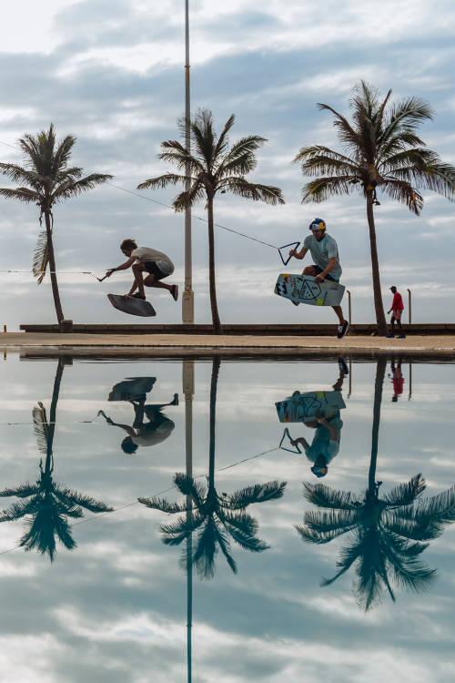 Wakeskate reflection
