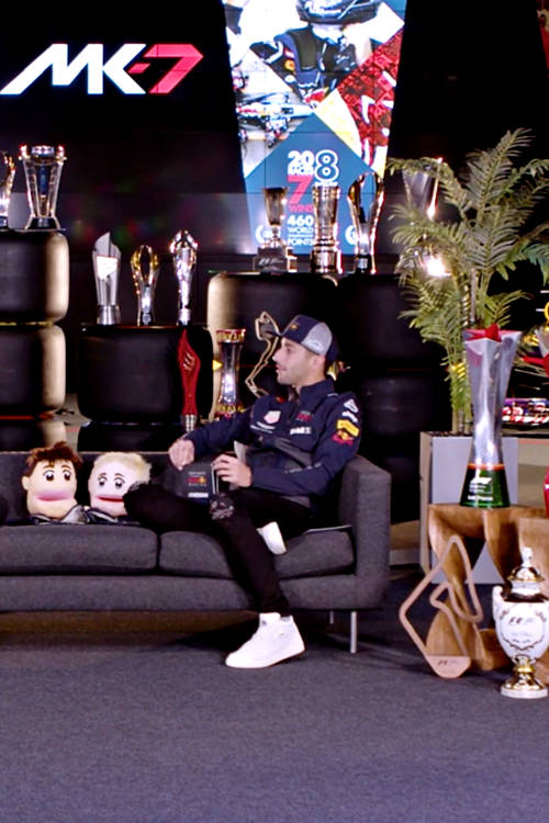 Max and Daniel on the sofa for the last time