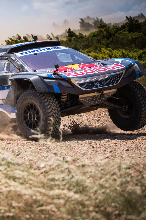 Bryce Menzies's Peugeot 3008 DKR rally car