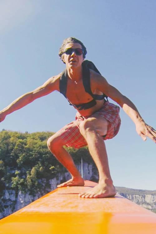 BASE Jump on a Surfboard