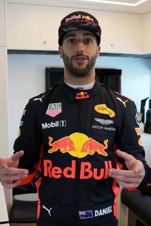Daniel Ricciardo's driver room
