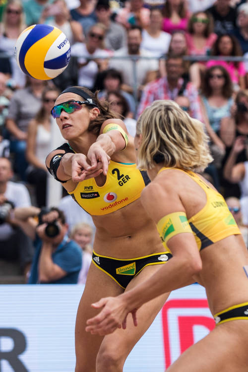 Trailer for beach volleyball in Hamburg
