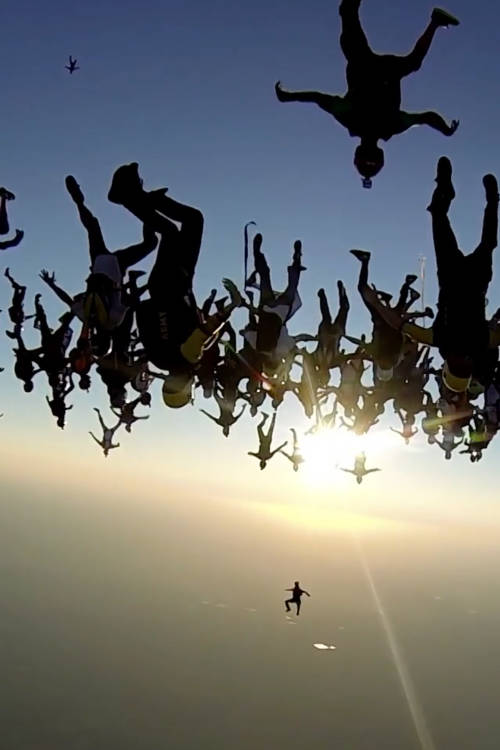World Record Team Skydive