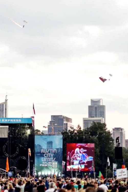Skydiving Over ACL Festival