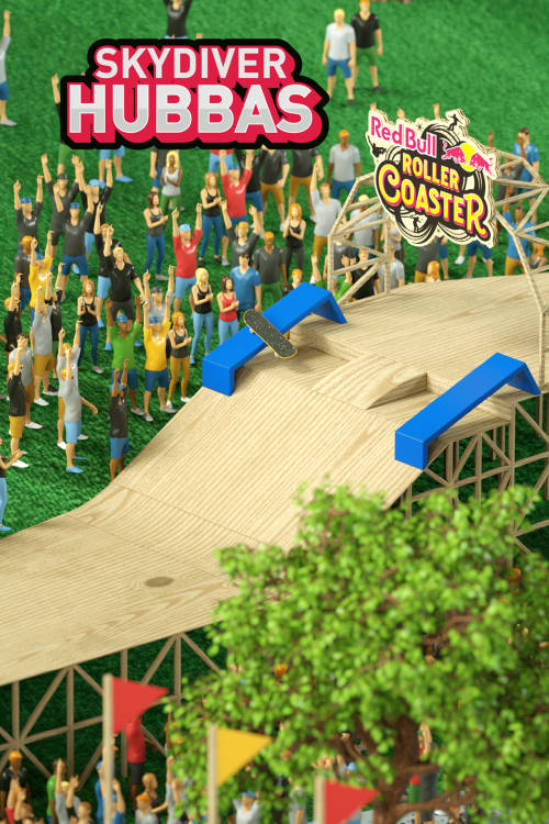 Red Bull Roller Coaster track animation