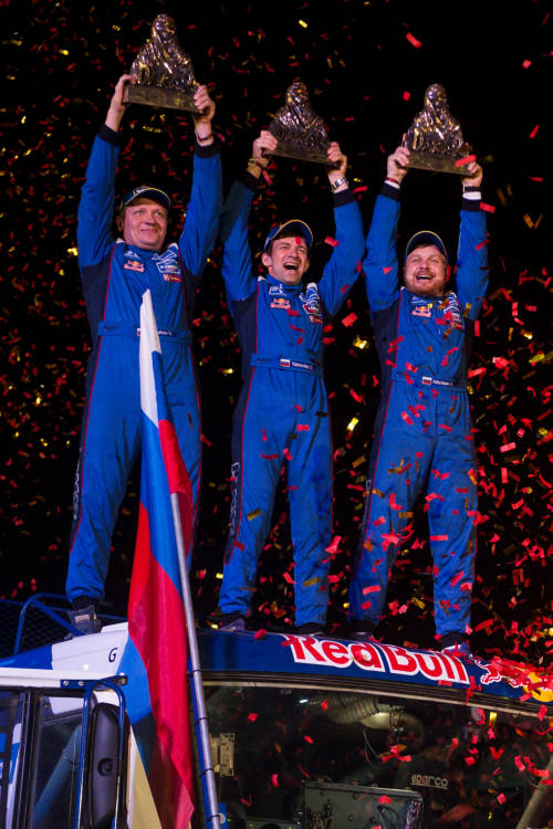 Eduard Nikolaev wins truck category
