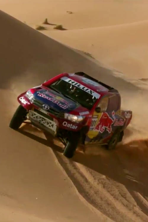 Racing on sand dunes with Nasser Al-Attiyah