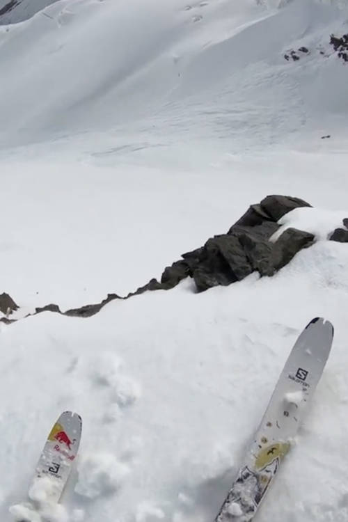 Andrzej Bargiel's POV of skiing down K2
