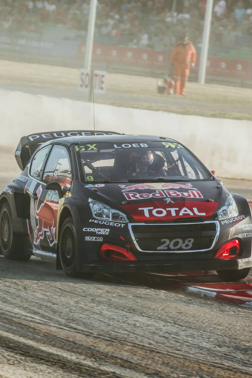 Sébastien Loeb in split screen action