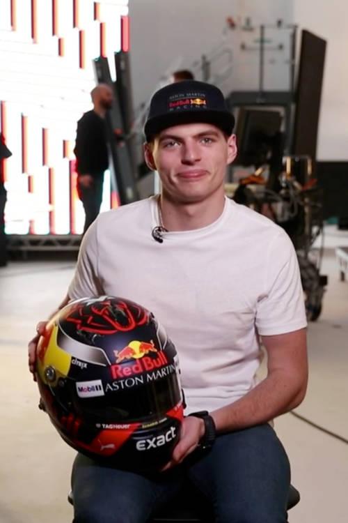 Max Verstappen's 2018 helmet