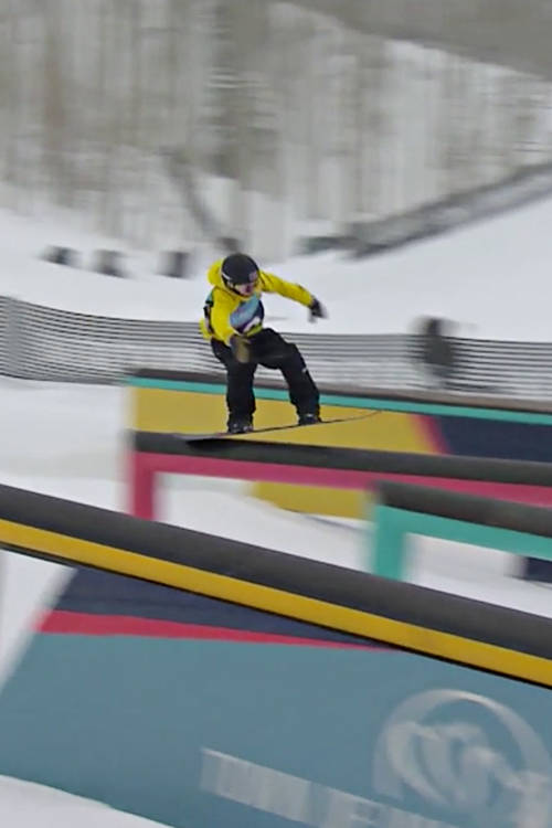 Men's winning slopestyle run