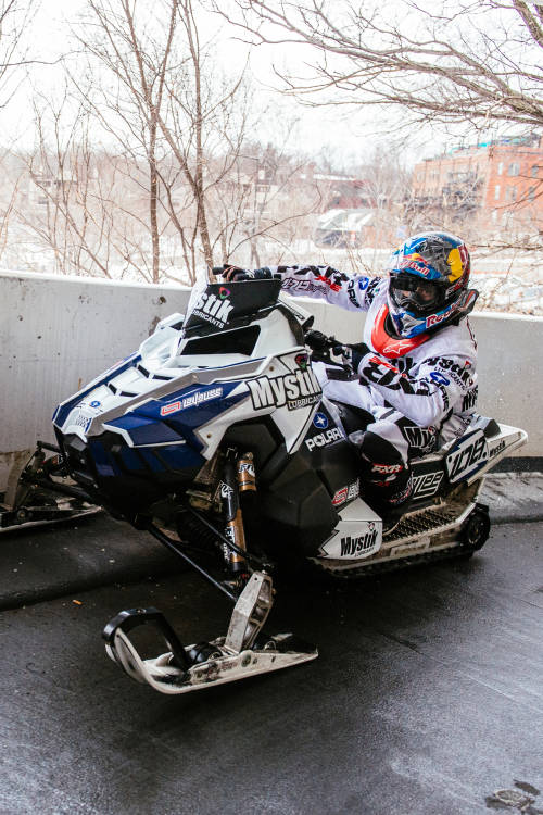 Urban Snowmobiling: St. Paul